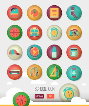 Vector school workspace.