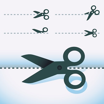 Vector scissors - set of design elements