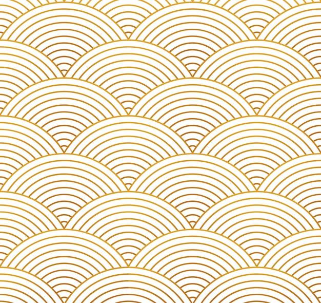 중국 장식 벡터 원활한 배경입니다. 아시아 서클 패턴, 기하학적 베이지색 라인