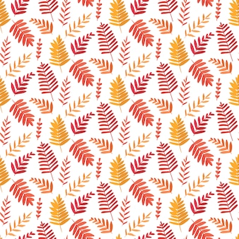 Vector seamless background with leaves. botanic texture.