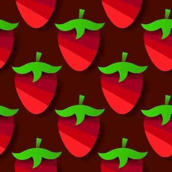 귀하의 제품 및 비즈니스에 대 한 딸기와 원활한 배경 벡터. 벡터