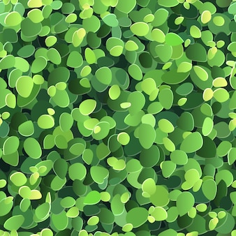 Vector seamless background with stylized green leaves