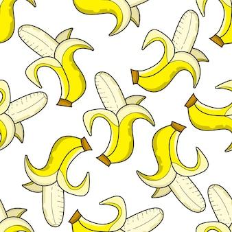 Vector seamless banana pattern