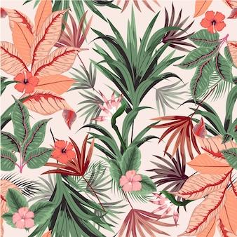 Vector seamless beautiful tropical seamless pattern