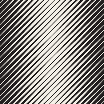 Vector seamless black and white halftone diagonal stripes pattern