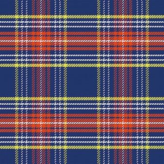 ベクトルのシームレスな青と赤のスコットランドのタータン