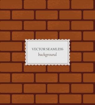 Vector seamless brick background.