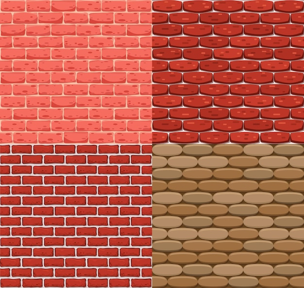 Vector seamless brick wall. realistic color stone texture. decorative patterns for interior loft style
