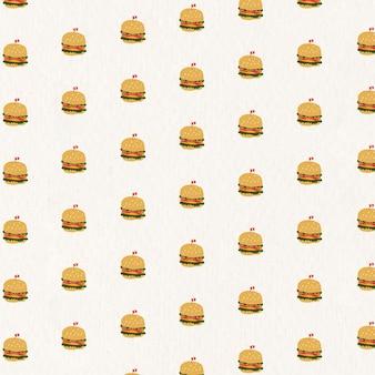ベクトルのシームレスなハンバーガーパターンの背景