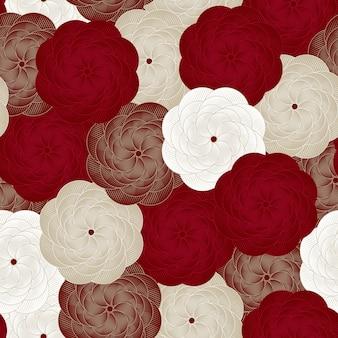 シームレスな花パターンベクトル