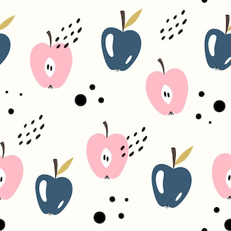 Vector seamless fruit pattern