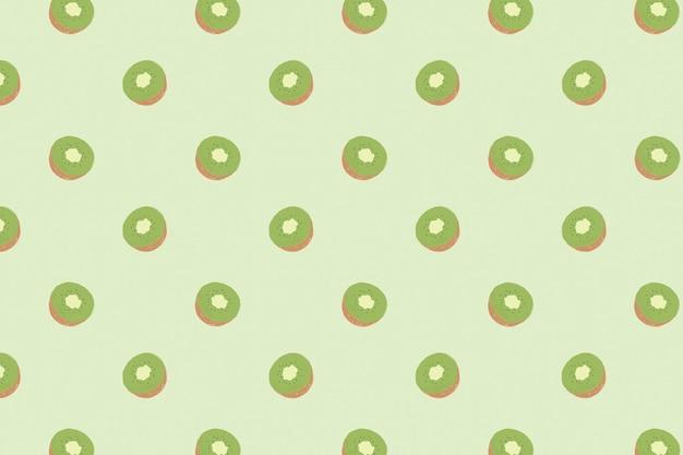ベクトルのシームレスなキウイパターンパステル背景