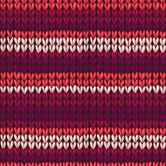 Vector seamless knitted pattern, stockinette stitch texture