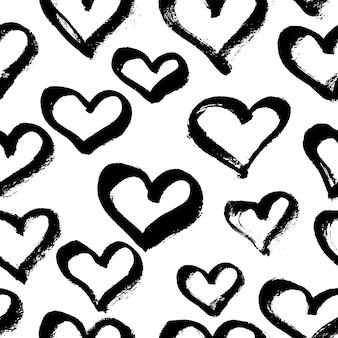Векторные бесшовные современный шаблон сердца.
