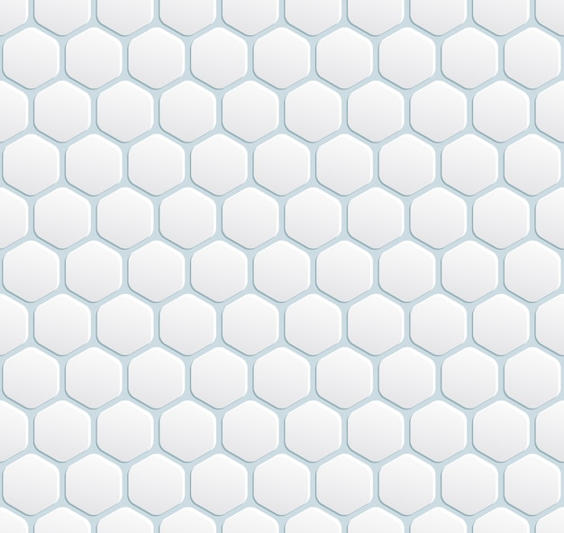 Vector seamless modern white background with hexagon
