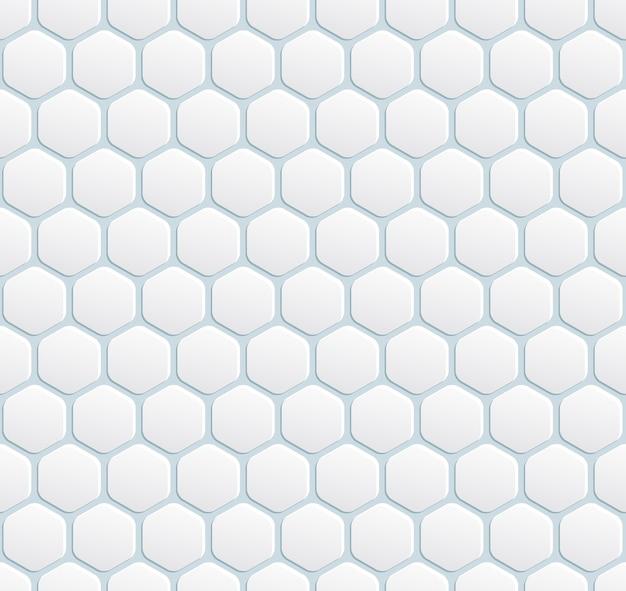 Вектор бесшовные современные белый фон с шестиугольником