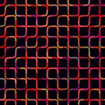Vector seamless multicolor maze lines geometric pattern