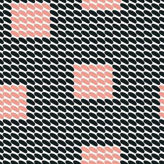 Бесшовный узор вектор. абстрактный фон с круглыми мазками. простая рисованная текстура - черный, белый и розовый