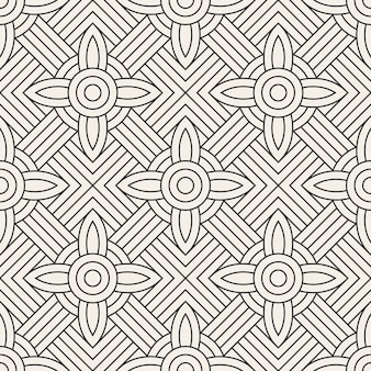 Vector seamless pattern. abstract geometric pattern with lines. repeating geometric tiles.