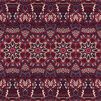 ベクトルシームレスパターンアフリカ美術バティックイカット民族ボヘミアン遊牧民の部族スタイル