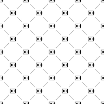 Vector seamless pattern, battery, editable can be used for web page backgrounds, pattern fills