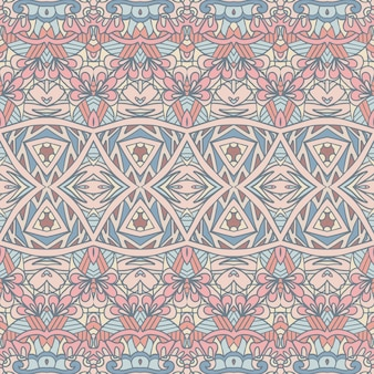 Вектор бесшовные модели богемный стиль текстильная печать декоративная