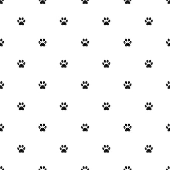 Vector seamless pattern, cat paw, editable can be used for web page backgrounds, pattern fills
