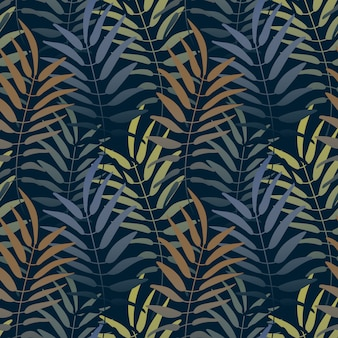 Vector seamless pattern. colorful background with jungle motif. botanical tropical backgro