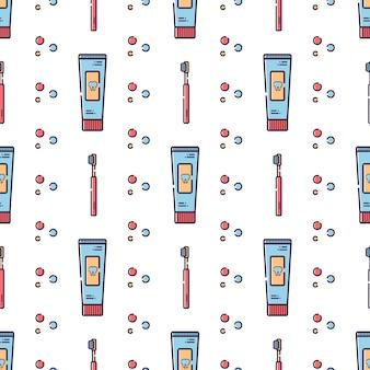 Vector seamless pattern on dental theme.