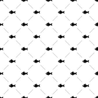벡터 원활한 패턴, 물고기, 편집 가능 웹 페이지 배경, 패턴 채우기에 사용할 수 있습니다.