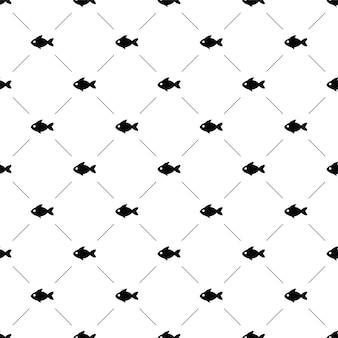 Vector seamless pattern, fish, editable can be used for web page backgrounds, pattern fills