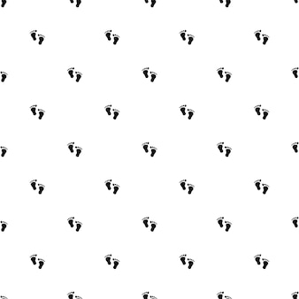 Vector seamless pattern, footprint, editable can be used for web page backgrounds, pattern fills