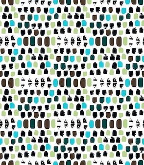 벡터 완벽 한 패턴입니다. 기하학적 장식입니다. 브러시의 귀여운 자리 배경입니다. 화려한 디자인. 추상적인 배경입니다. 배너, 포장지, 섬유, 직물, 표지, 인쇄, 벽지에 이상적입니다.