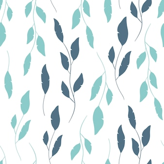 Vector seamless pattern in floral style