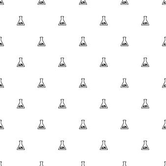 ベクトルのシームレスなパターン、実験室、編集可能webページの背景、パターンの塗りつぶしに使用できます