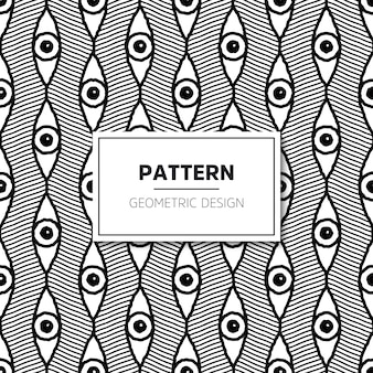 Vector seamless pattern. Modern stylish texture with wavy stripes.