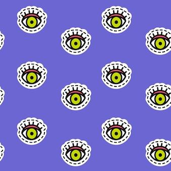 Vector seamless pattern in pop art style.