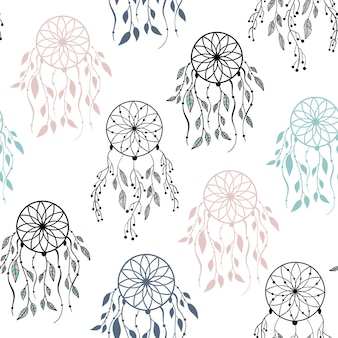 Vector seamless pattern in scandinavian style