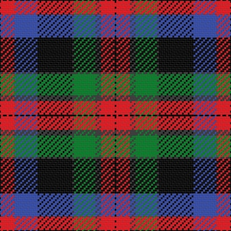 Вектор бесшовные модели шотландский тартан, черный, синий, зеленый, красный