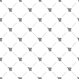 벡터 원활한 패턴, 쇼핑 카트, 편집 가능은 웹 페이지 배경, 패턴 채우기에 사용할 수 있습니다.