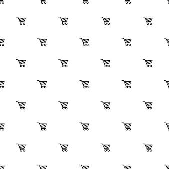 Vector seamless pattern, shopping cart, editable can be used for web page backgrounds, pattern fills