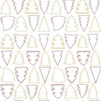 Vector seamless pattern of simple christmas tree as a symbol of happy new year merry christmas