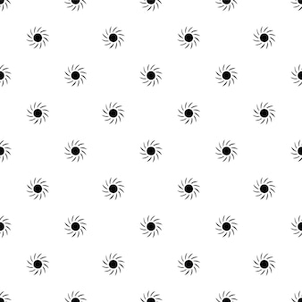 Vector seamless pattern, sun, editable can be used for web page backgrounds, pattern fills