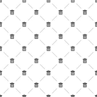 벡터 원활한 패턴, 휴지통, 편집 가능은 웹 페이지 배경, 패턴 채우기에 사용할 수 있습니다.