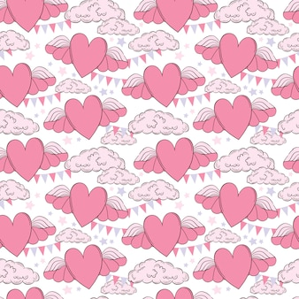 Vector seamless pattern valentine's day cards templates