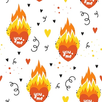 Vector seamless pattern for valentine's day