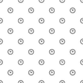ベクトルのシームレスなパターン、時計、編集可能webページの背景、パターンの塗りつぶしに使用できます