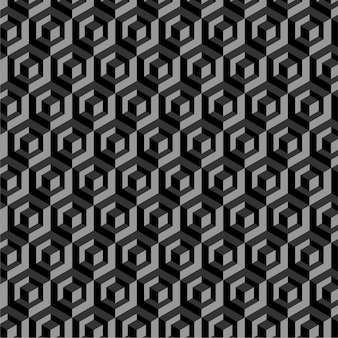 Vector seamless pattern with 3d cube polygons