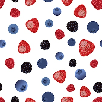 Vector seamless pattern with berries.