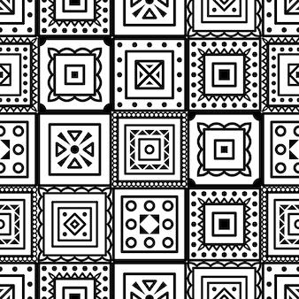 自由奔放に生きる幾何学的な正方形の要素でシームレスなパターンをベクトルします。概要